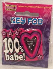 Novelty Keyring - 100% Babe - With Photo Space - Brand New