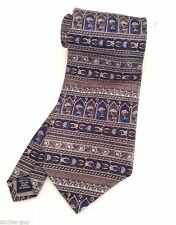 "Stafford Italian Silk Tie 57"" Necktie Black Brown Blue Silver Grey Red Mens"