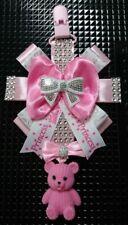 Pram charm pink teddy stunning gift for girl