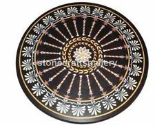 "32"" Marble Round Coffee Table Top Handmade Inlay Stone Living Room Decors B025"