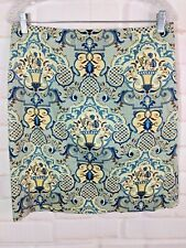 Talbots skirt 12 blue and white stretch