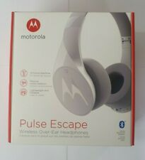 Motorola Pulse Escape Wireless Over-Ear Headphones - Alexa Enabled - White