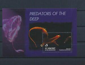 LO13231 St Vincent eel fish sealife good sheet MNH