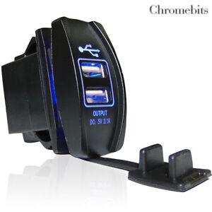 Vw Caddy Transporter T4 T5 Multivan Lt Dual Usb Waterproof Charger Socket Outlet