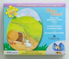New Easter Puzzle Hunt 24pc Puzzle, Book, 12 Plastic Eggs Resurrection Dayspring