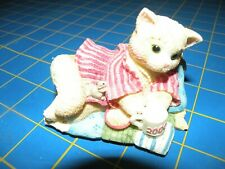 Enesco Calico Kittens 2000 Creature Comforts Figurine #720755