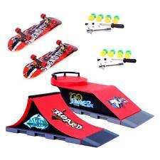Mini Finger Skateboard Toy w/ Stunt Ramp Set for Kids Table Skate Board Game