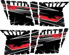 GRAPHICS DECAL KIT PRO ARMOR 4 DOOR POLARIS RZR 800 RAZOR S Liquid Silver / Red