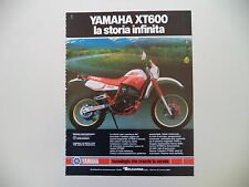 advertising Pubblicità 1987 MOTO YAMAHA XT 600 4 VALVES 4V