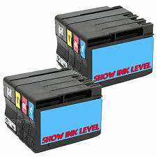 8 Pk 932XL 933XL Bk & Color Ink Combo Fits HP Officejet 6100 6600 6700 New Chip