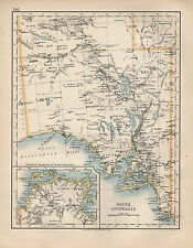 1897 VICTORIAN MAP ~ SOUTH AUSTRALIA ~ SHOWING NORTHERN SECTION ADELAIDE