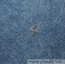 BonEful Fabric Fq Cotton Quilt Blue Navy Dark Bias Stripe Denim Texture Cow*Boy