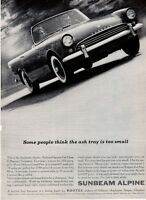 1961 Sunbeam PRINT AD Alpine Convertible Sports Car 2 Door on the Road