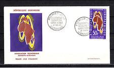 Gabon    enveloppe 1er jour  association économiqu Europe Afrique    1963