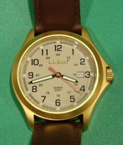 LL Bean Wristwatch - Mint! - New Battery & Free Shipping to USA address!