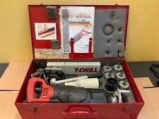 T60 Tee Forming Copper And Tubing Drill Red And Black Milwaukee Power Drill