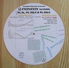 Pioneer PL-5L/30LII/50LII Tonearm Alignment Protractor (Manufacturer Design)