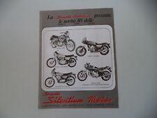advertising Pubblicità 1980 SILENTIUM e BENELLI 504 SPORT/654/125 2C/GUZZI V 35
