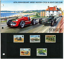 JERSEY PRESENTATION PACK 1980 MOTOR-CYCLE LIGHT CAR CLUB MNH SG 233-237