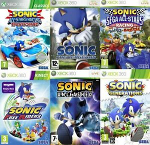 Sonic Xbox 360 MINT - Buy 1 or Bundle up - Super Fast Delivery
