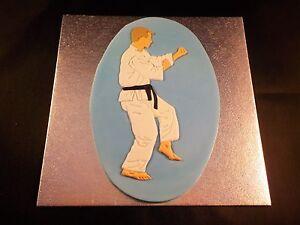 Judo Karate Martial Arts Cake Topper for Men and Birthdays Handmade Sugarpaste