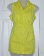 Motherhood Maternity Yellow Sleeveless Blouse Shirt Size Medium M