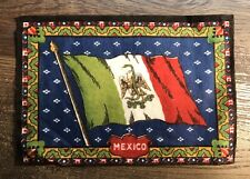 Antique Cigar Box Tobacco Flannel Flags of The World Mexico