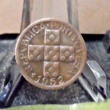 CIRCULATED 1952 10 CENTAVOS PORTUGESE COIN (41418)