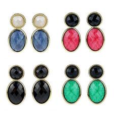 Unbranded Resin Alloy Oval Costume Earrings