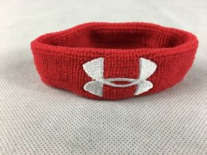 """Under Armour Performance Wristband 1"""" Red- 7 Total Wristbands-One Lot of 7"""