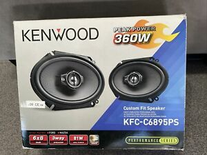 "2x Kenwood 360W KFC-D681C  6x8"" car audio  Speakers replacement of KFC-6895PS"