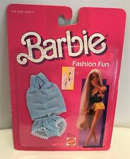 Barbie Fashion Fun Outfit Clothes Clothing Blue PJs Nightgown Lingerie