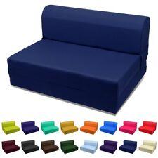 """Single Navy Blue Sleeper Chair/Seat/Folding Foam Bed 70""""x23""""x5"""" 1.2LB White Foam"""