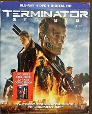 Terminator Genisys (Blu-ray/DVD, 2015, Digital Copy) W/Slip & 22 Page Comic RARE