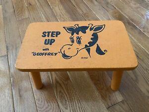 🔥 Vintage Toys R' Us Geoffrey Step Up Wood Peg Leg Step Stoll - SUPER RARE! 🔥