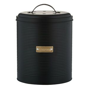 Black Composter Typhoon Living Stylish Otto Kitchen  Caddy 2.5L Benchtop Size
