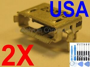 2x Micro USB Charging Port Sync for Toshiba Excite 10 / Excite 10SE Tablet USA