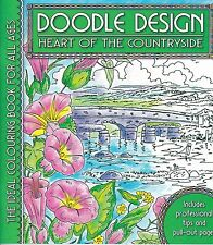 DOODLE DESIGN __ HEART OF THE COUNTRYSIDE _ BRAND NEW ADULT COLOURING BOOK GREEN
