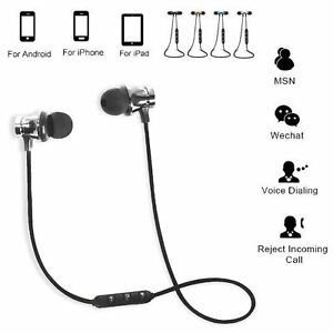 BLUETOOTH HEADPHONE WIRELESS HEADSET WITH MICROPHONE SAMSUNG IPHONE IPAD ANDROID