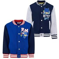 PJ Masks Disney Boys Baseball College Jumper Sweatshirt Jacket Cotton 3-8 Years