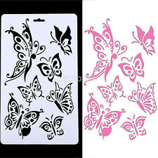Plastic Butterfly Stencil Airbrush Painting Scrapbooking Album Templates Kids CA
