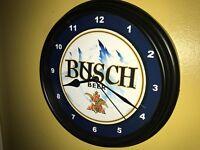 Busch Beer Bar Tavern Advertising Man Cave Wall Clock Sign