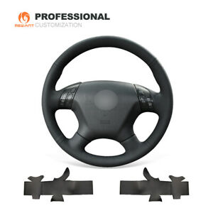 MEWANT Black Genuine Leather Car Steering Wheel Cover Honda Accord 7 2003-2007
