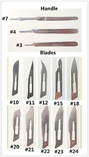 20Pcs Sterile #11 Surgical Blades+1Pc #3 Scalpel Knife Handle Medical Dental