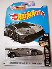 Hot Wheels Cars - Lamborghini Huracan LP 620-2 Super Trofeo Grey
