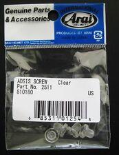 Arai Base Plate Shield/Visor Holder Screw Set - Genuine - NEW!