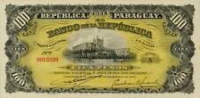 Paraguay P-159 100 pesos L.1907 Unc with stain