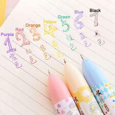 Multifunction 7 In 1 Multicolor Ballpoint Pen Cartoon Animal School Supplies HOT