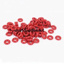 50Pcs Red Industrial Silicone O Ring Seal 5/6/7/8/9/10/11/12/13mm OD 1.9mm Thick