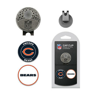 NFL Chicago Bears Golf Cap Clip and 2 Ball Markers Set Hat Enamel